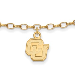 Versil Sterling Silver With Gold Plating LogoArt University of Colorado Anklet