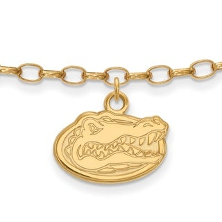 Versil Sterling Silver With Gold Plating LogoArt University of Florida Anklet