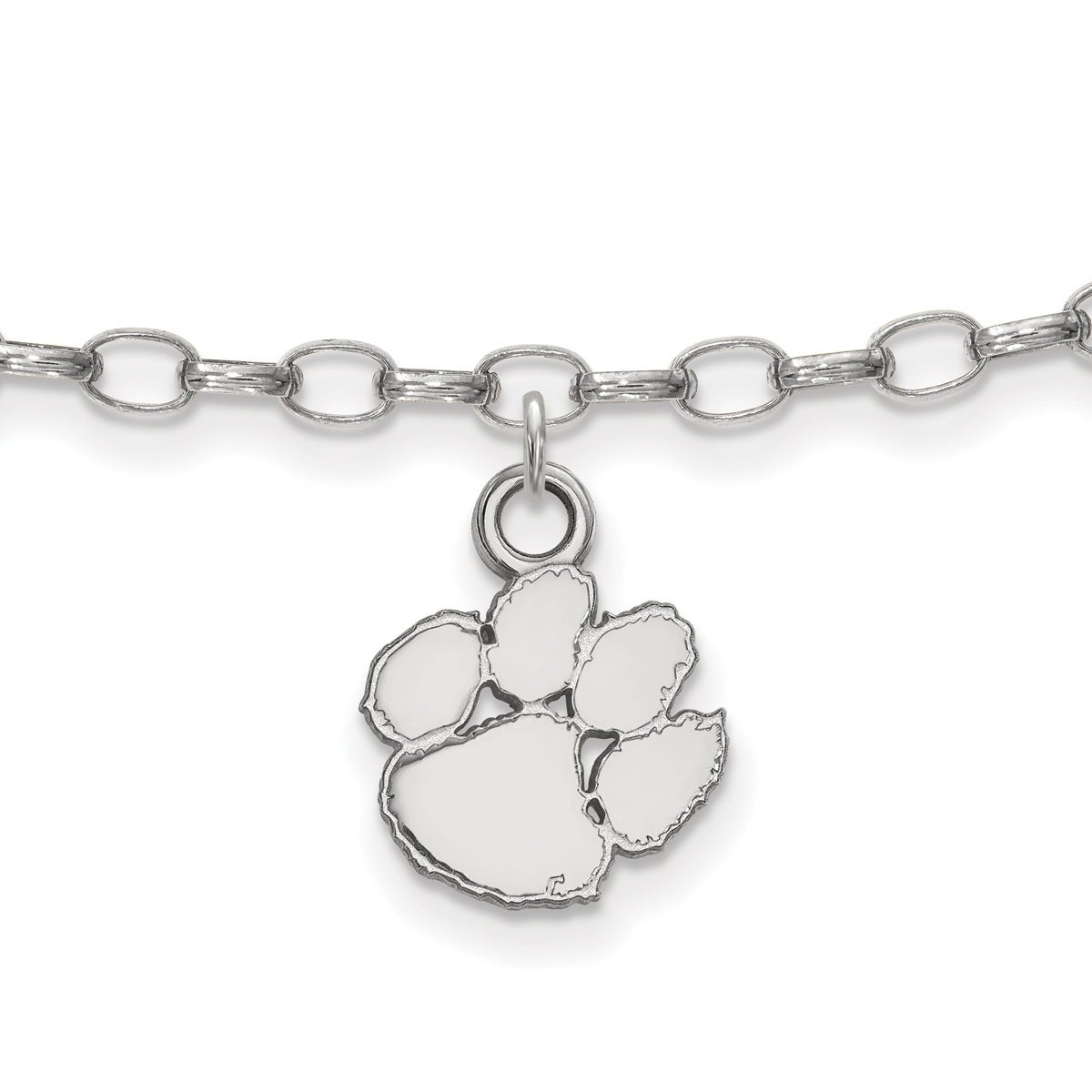 Sterling Silver Washington State Anklet by LogoArt