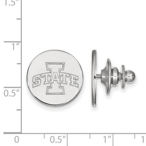 Versil Sterling Silver LogoArt Iowa State University Lapel Pin