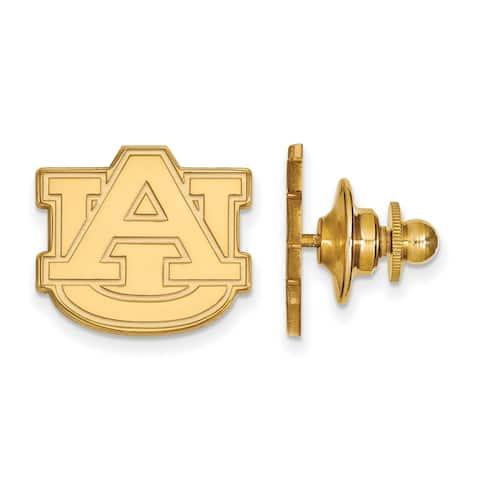 Sterling Silver With Gold Plating LogoArt Auburn University Lapel Pin by Versil