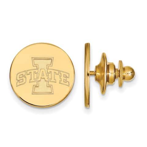 Versil Sterling Silver With Gold Plating LogoArt Iowa State University Lapel Pin
