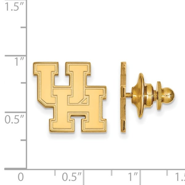 Versil Sterling Silver With Gold Plating LogoArt University of Houston  Lapel Pin