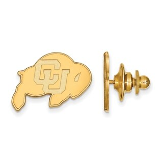Sterling Silver With Gold Plating LogoArt University of Colorado Lapel Pin