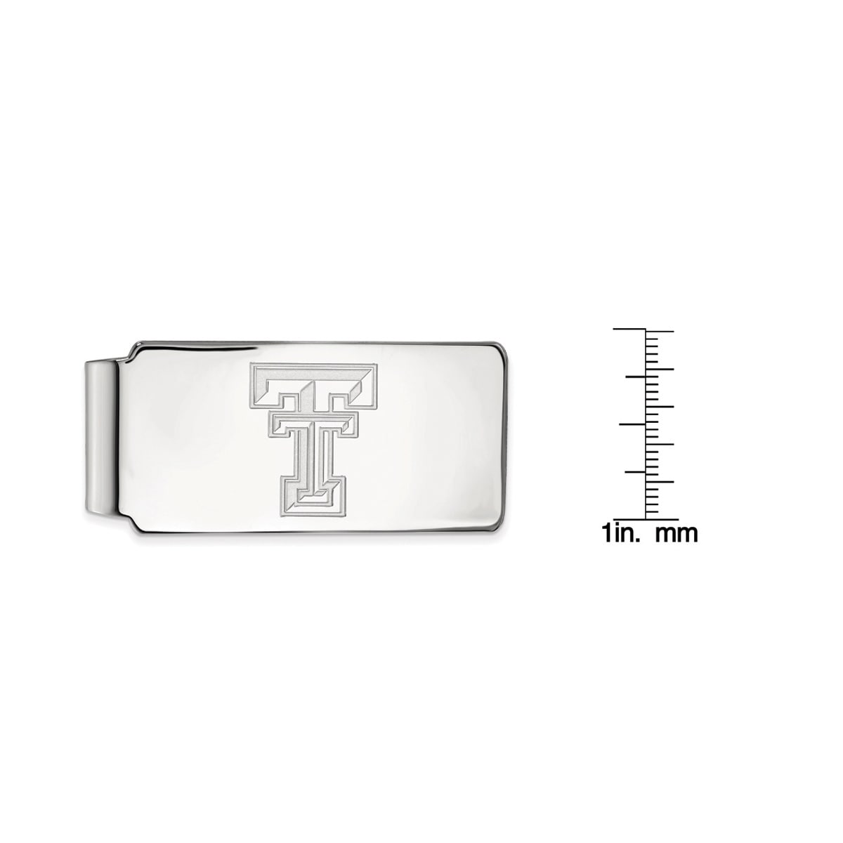 Logoart Sterling Silver Texas State University Money Clip