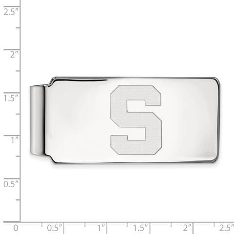 Versil Sterling Silver LogoArt Michigan State University Money Clip
