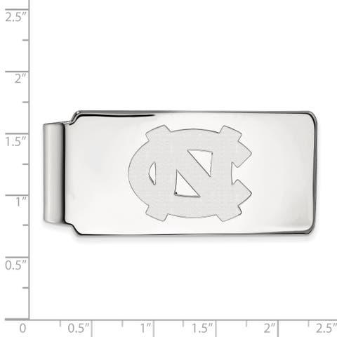Versil Sterling Silver LogoArt University of North Carolina Money Clip