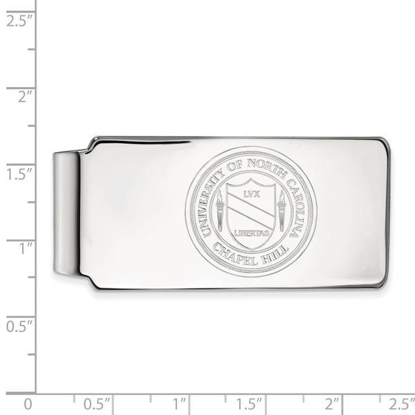 Versil Sterling Silver LogoArt University of North Carolina Money Clip Crest