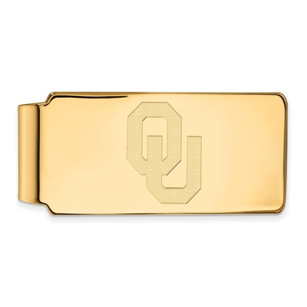 Versil Sterling Silver With Gold Plating LogoArt University of Oklahoma Money Clip