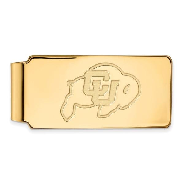 Versil Sterling Silver With Gold Plating LogoArt University of Colorado Money Clip
