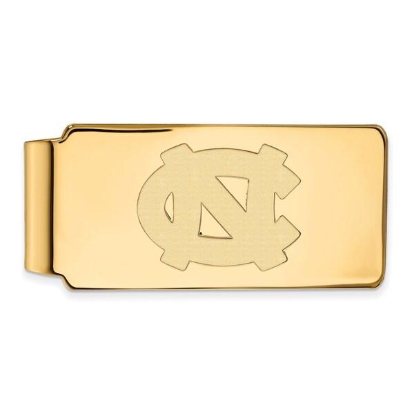 Versil Sterling Silver With Gold Plating LogoArt University of North Carolina Money Clip