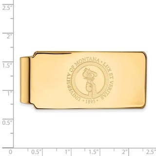 Sterling Silver With Gold Plating LogoArt University of Montana Money Clip Crest