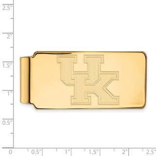 Sterling Silver With Gold Plating LogoArt University of Kentucky Money Clip
