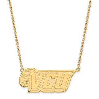 Sterling Silver with Gold Plating LogoArt Virginia Commonwealth U Lg Pend with Necklace