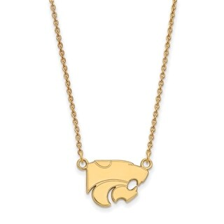 Sterling Silver with Gold Plating LogoArt Kansas State University Sm Pendant with Necklace