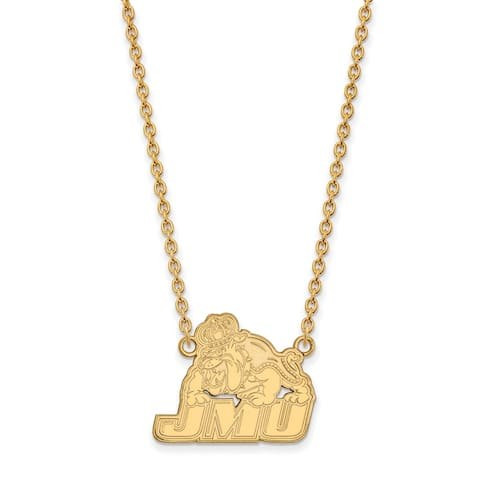 Sterling Silver and Gold-plating LogoArt James Madison University Large Pendant with Necklace by Versil