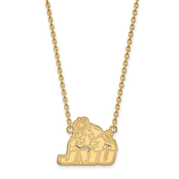 Sterling Silver and Gold-plating LogoArt James Madison University Large Pendant with Necklace by Versil. Opens flyout.