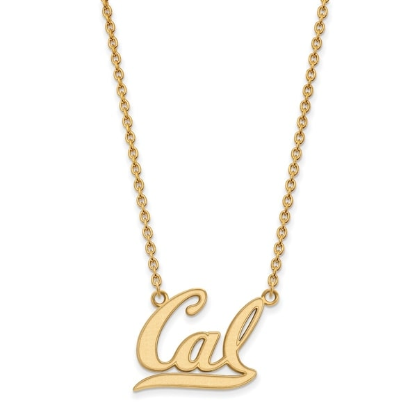 Sterling silver with gold plating logoart university of california sterling silver with gold plating logoart university of california berkeley large pendant with necklace aloadofball Image collections