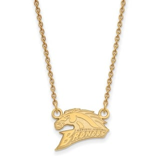 Sterling Silver with Gold Plating LogoArt Western Michigan University Small Pendant with Necklace
