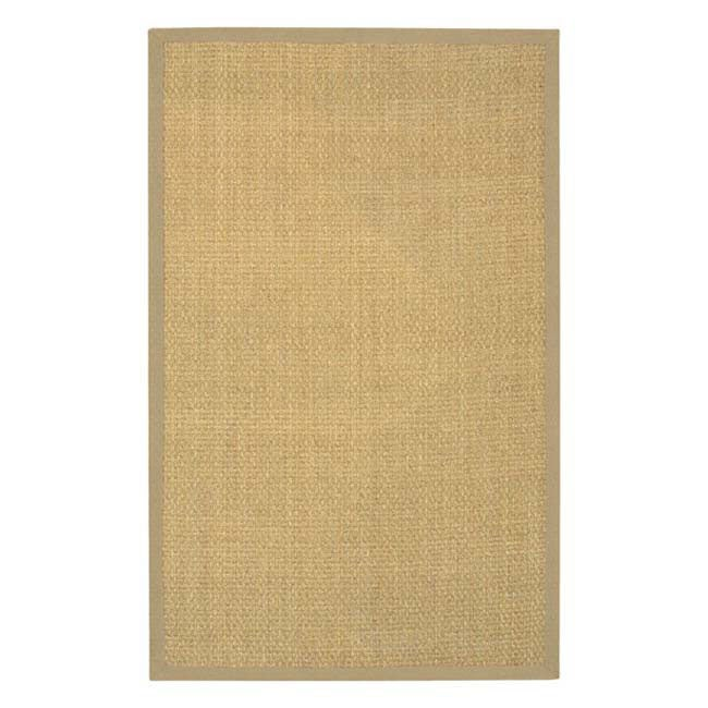 Hand-woven Beige Border Seagrass Rug (5' x 8')