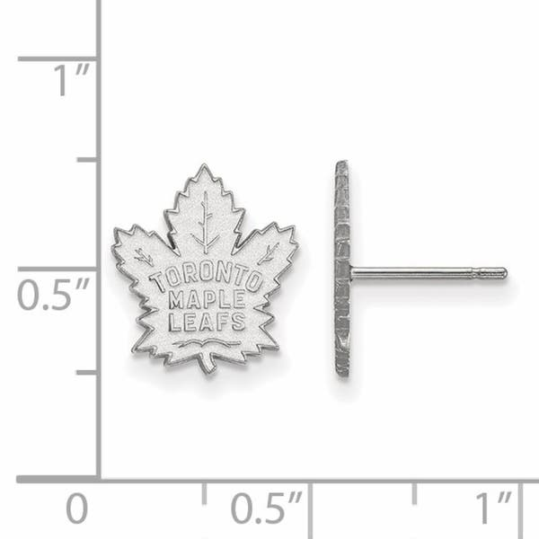 Shop Versil Sterling Silver Nhl Logoart Toronto Maple Leafs Small Post Earrings Free Shipping Today Overstock 21021542