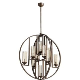 Julian Oiled Bronze and Mercury Glass 10-light Chandelier