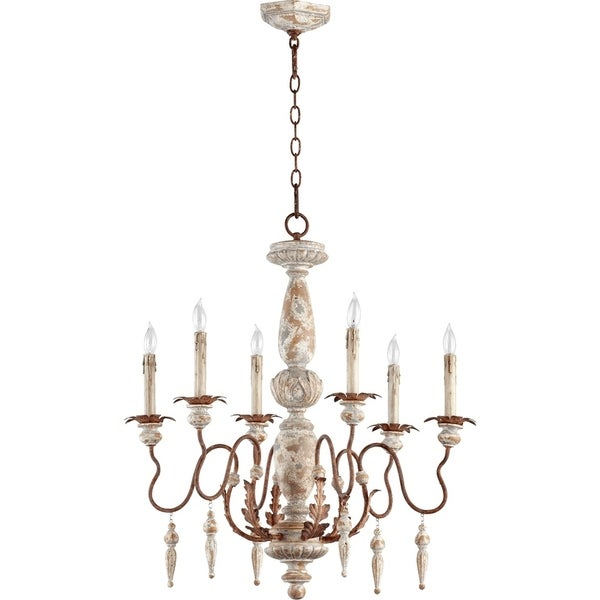 La Maison Manchester Grey and Rust Accents 6-light Chandelier