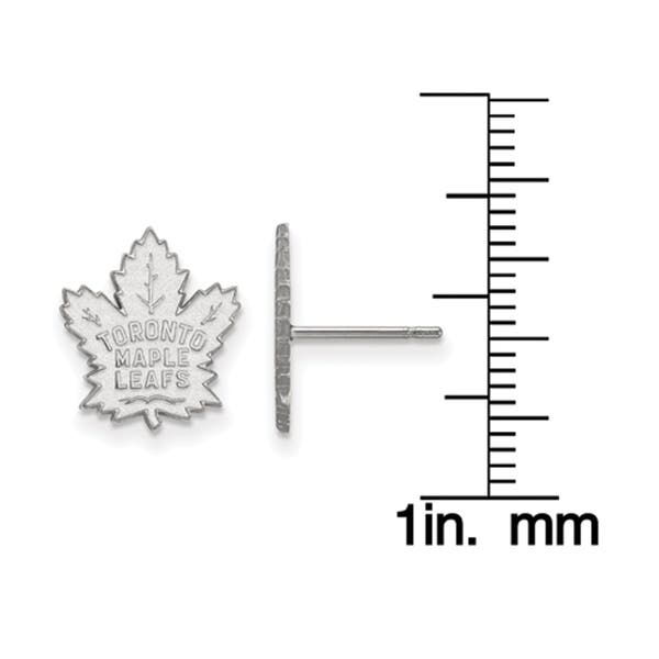Shop Versil 10 Karat White Gold Nhl Logoart Toronto Maple Leafs Small Post Earrings Overstock 21021934
