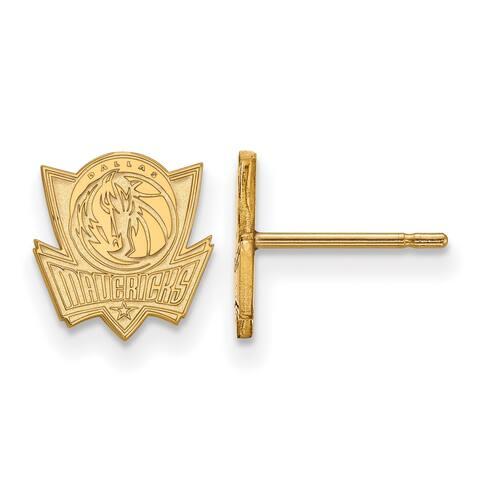 Versil LogoArt 10 Karat Gold Dallas Mavericks Stud Earrings