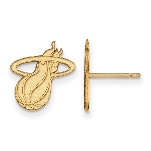 Logoart 14 Karat Gold Miami Heat Stud Earrings