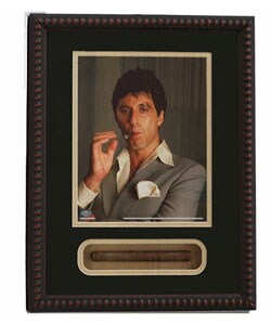 Scarface Cigar Shadow Box Featuring Al Pacino and Replica Cigar