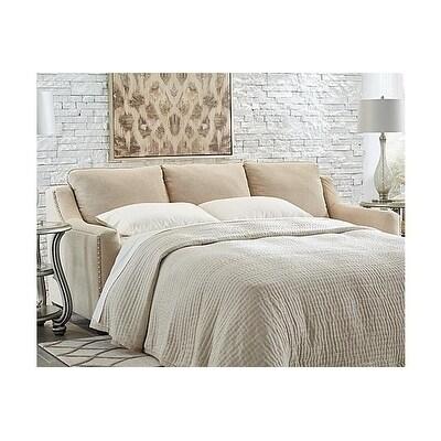 Benchcraft, Mauricio Contemporary Linen Queen Sofa Sleeper