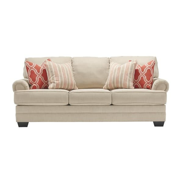Wondrous Benchcraft By Ashley Sansimeon Traditional Stone Beige Queen Sofa Sleeper Pabps2019 Chair Design Images Pabps2019Com