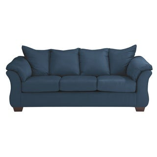 Signature Design by Ashley Darcy Blue Microfiber Full Contemporary Sleeper Sofa