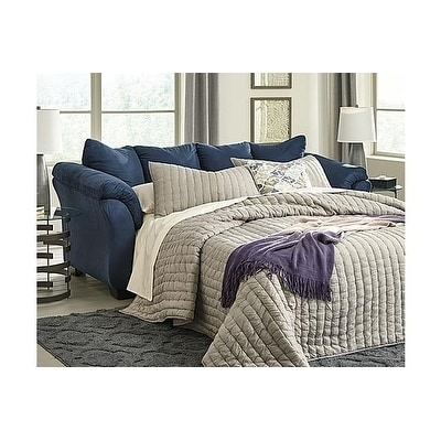 Signature Design by Ashley, Darcy Contemporary Blue Full Sleeper Sofa