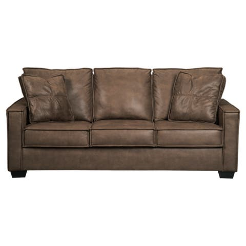 Signature Design by Ashley Terrington Harness Brown Queen Contemporary Sofa Sleeper