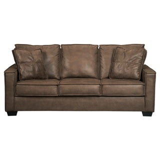 Signature Design by Ashley Terrington Harness Brown Queen Contemporary Sofa  Sleeper | Overstock.com Shopping - The Best Deals on Sofas & Couches