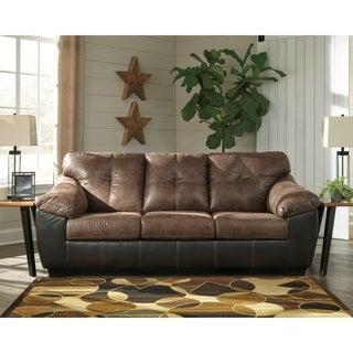 Signature Design by Ashley Gregale Contemporary Brown Queen Sofa Sleeper