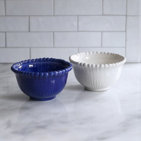 Euro Ceramica Sarar Cereal Bowls, Set of 4
