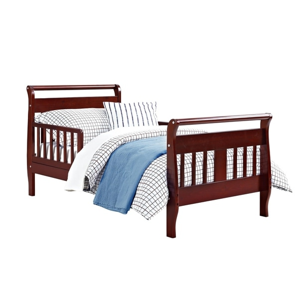 Shop Mikaila Nerida Wood Toddler Sleigh Bed Free
