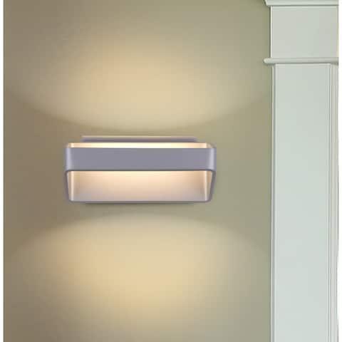 """VONN Lighting VMW15710AL 10"""" Integrated LED Sconce Lighting Silver"""