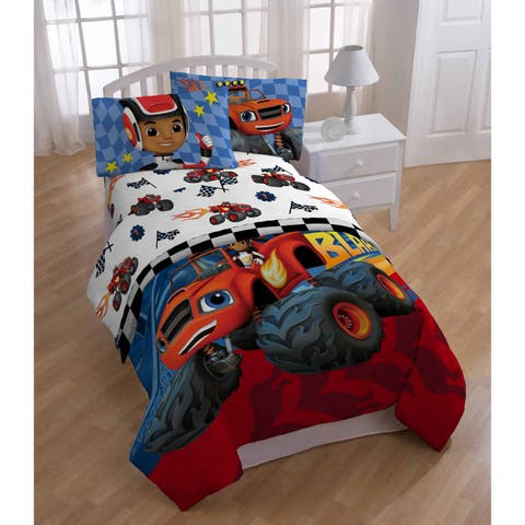 Nickelodeon Blaze Fast Track 3 Piece Twin Sheet Set