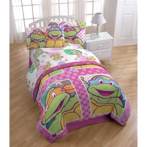 Nickelodeon Teenage Mutant Ninja Turtles Shell Tastic 4 Piece Full Sheet Set