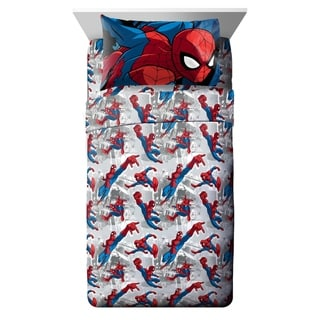 Link to Marvel Spiderman Burst 3 Piece Twin Sheet Set Similar Items in Kids Quilts & Coverlets