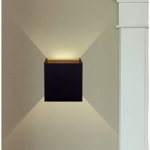 """VONN Lighting VMW14810BL 5"""" Integrated LED Wall Sconce Lighting Black"""