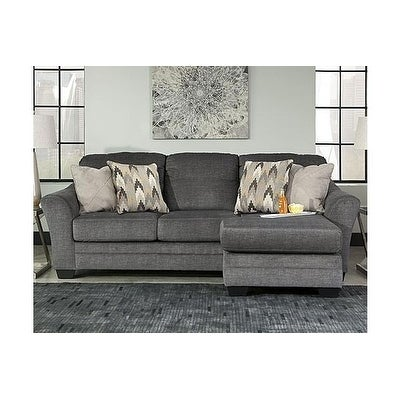 Super Benchcraft Braxlin Charcoal Chaise Sofa Onthecornerstone Fun Painted Chair Ideas Images Onthecornerstoneorg