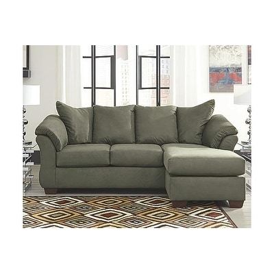 Signature Design By Ashley Darcy Contemporary Sage Sofa Chaise