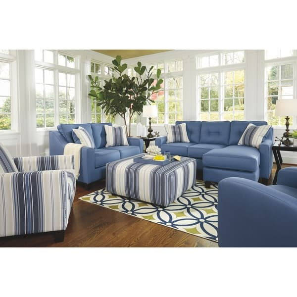 Superb Shop Benchcraft By Ashley Aldie Nuvella Contemporary Blue Gmtry Best Dining Table And Chair Ideas Images Gmtryco