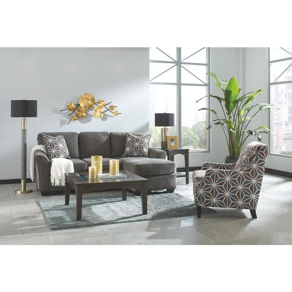 Excellent Shop Ashley Benchcraft Brise Slate Chaise Sofa Free Caraccident5 Cool Chair Designs And Ideas Caraccident5Info