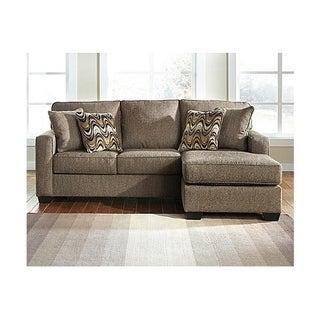 Super Benchmark By Ashely Benchcraft Tanacra Brown Tweed Fabric Contemporary Sofa Chaise Overstock Com Shopping The Best Deals On Sofas Couches Frankydiablos Diy Chair Ideas Frankydiabloscom